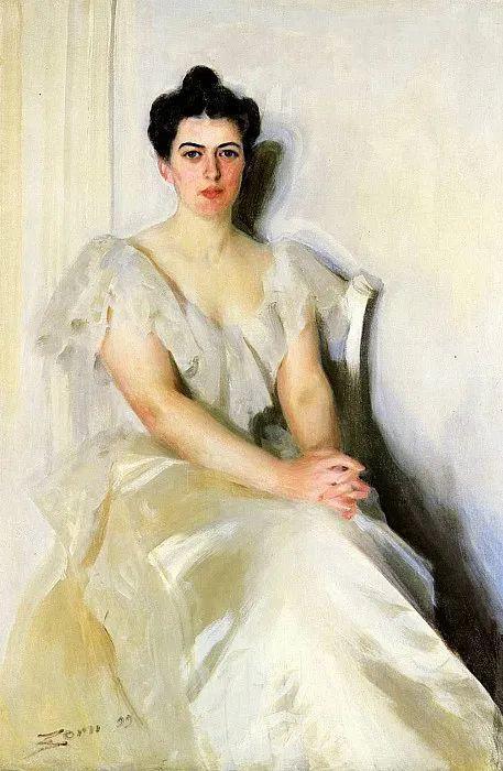 他为多位总统/国王画过肖像,瑞典画家安德斯·佐恩插图57