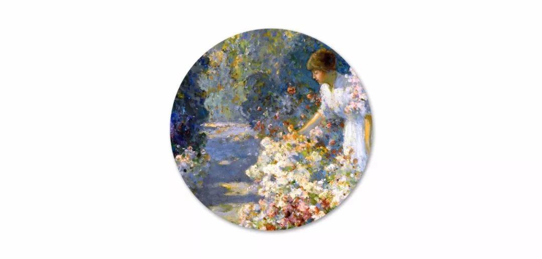 19世纪花园风景,看看那整片盛开的鲜花!插图13