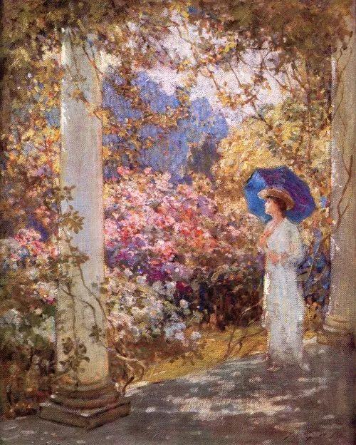 19世纪花园风景,看看那整片盛开的鲜花!插图15