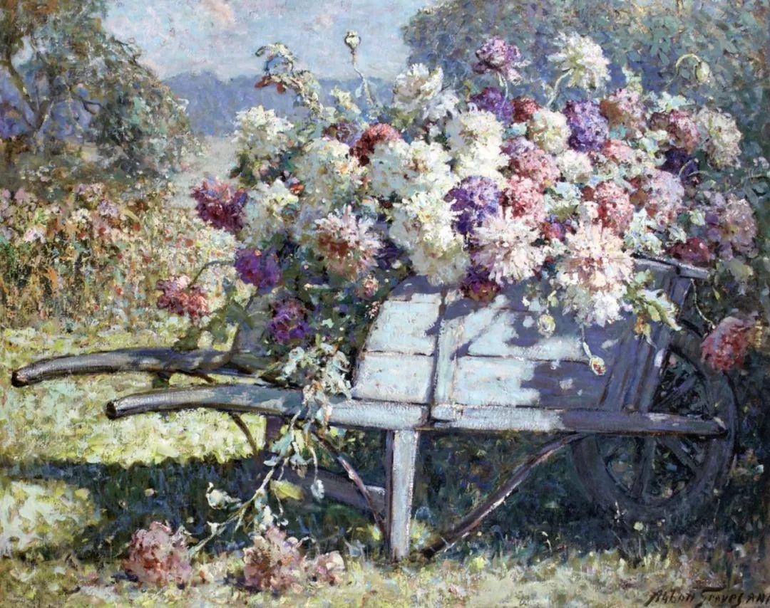19世纪花园风景,看看那整片盛开的鲜花!插图17