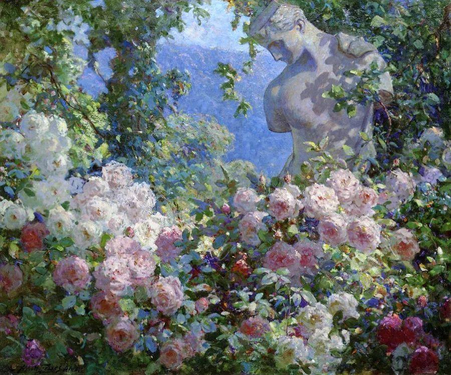 19世纪花园风景,看看那整片盛开的鲜花!插图19