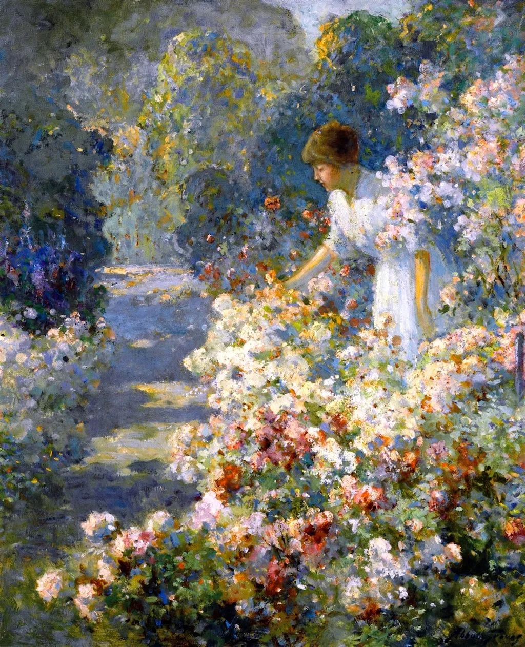 19世纪花园风景,看看那整片盛开的鲜花!插图21