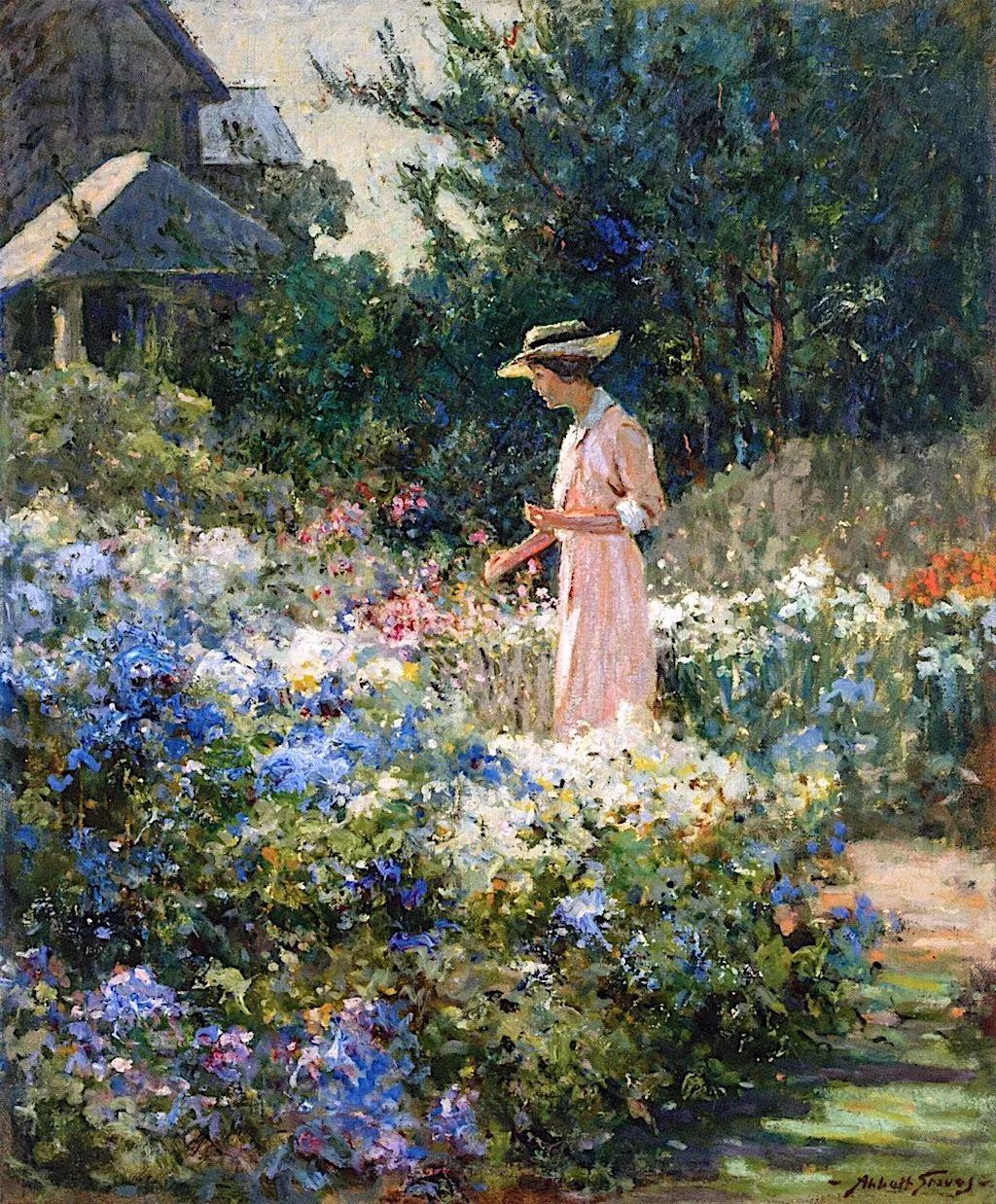 19世纪花园风景,看看那整片盛开的鲜花!插图23
