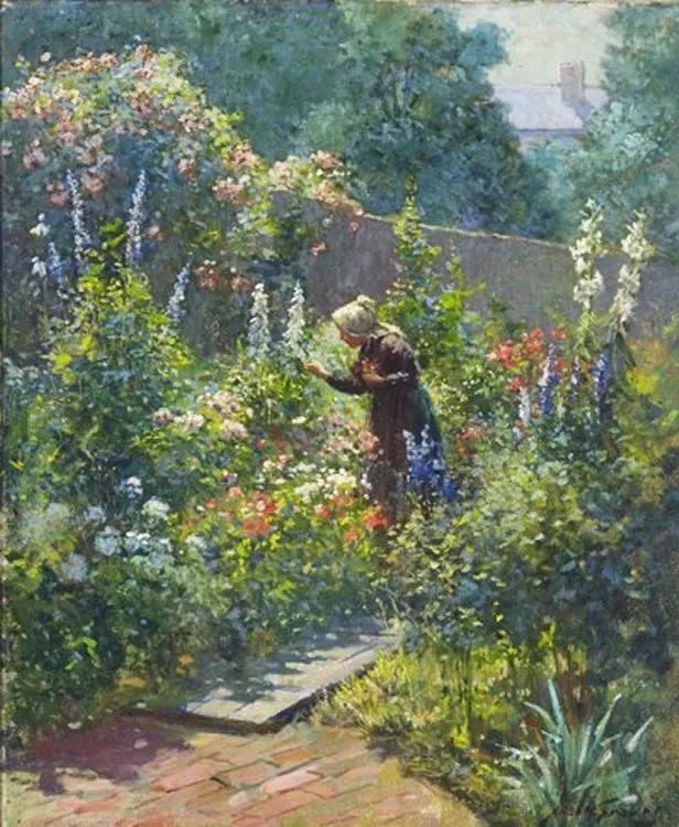 19世纪花园风景,看看那整片盛开的鲜花!插图25