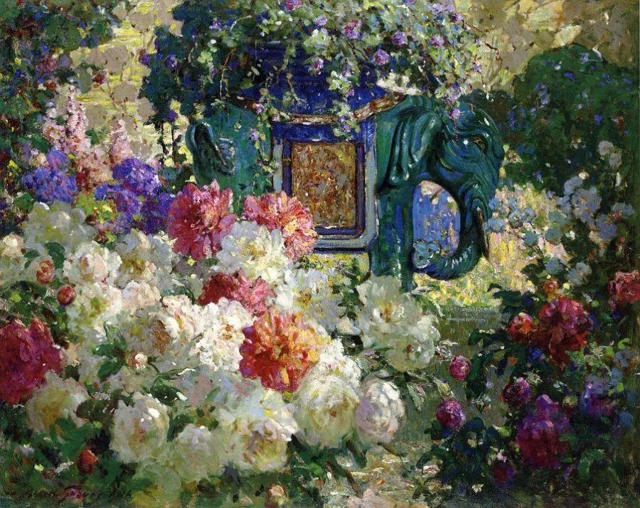 19世纪花园风景,看看那整片盛开的鲜花!插图27