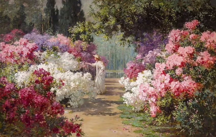 19世纪花园风景,看看那整片盛开的鲜花!插图29