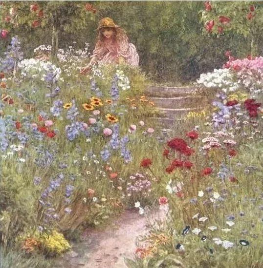 19世纪花园风景,看看那整片盛开的鲜花!插图31