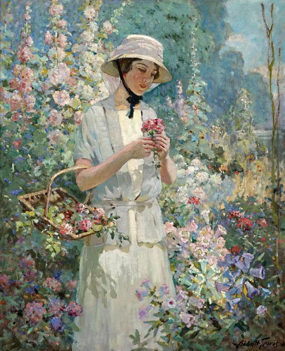 19世纪花园风景,看看那整片盛开的鲜花!插图35