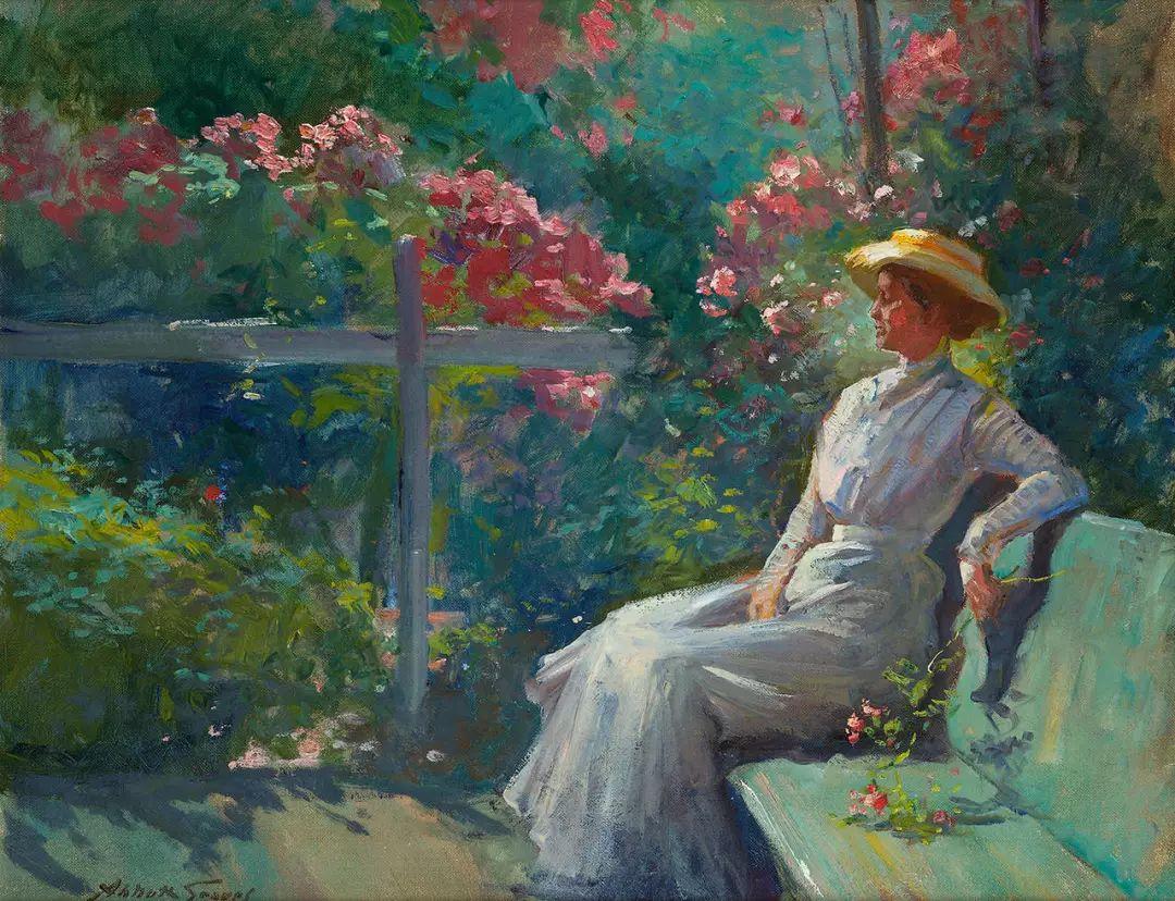 19世纪花园风景,看看那整片盛开的鲜花!插图37
