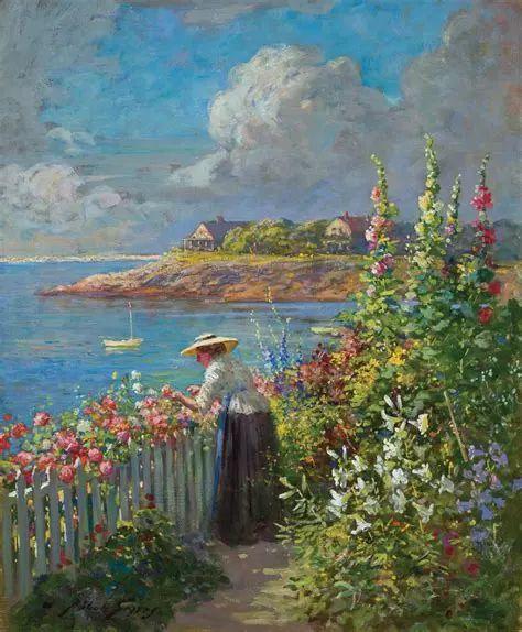 19世纪花园风景,看看那整片盛开的鲜花!插图45