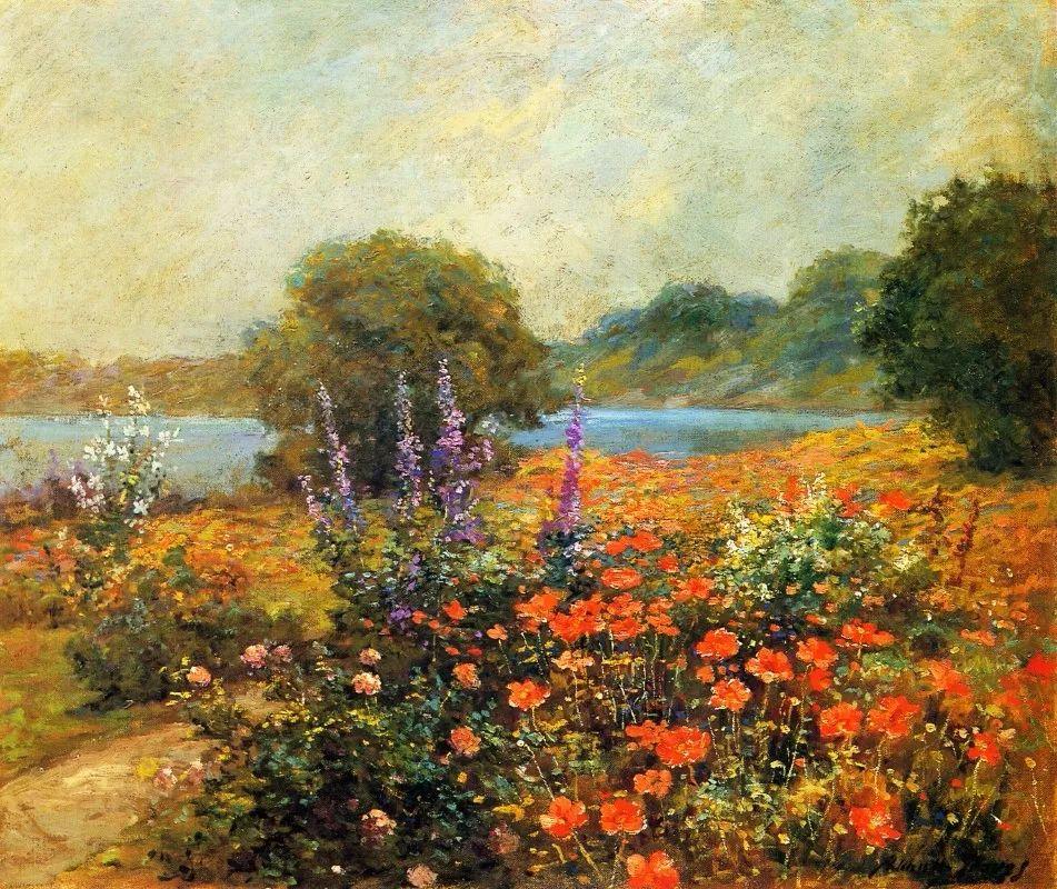 19世纪花园风景,看看那整片盛开的鲜花!插图49