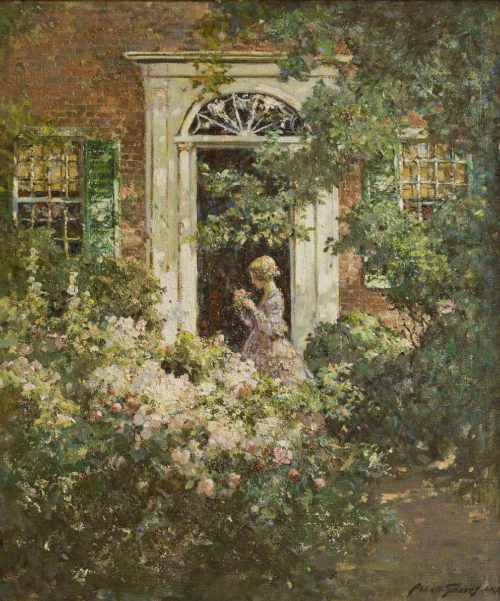 19世纪花园风景,看看那整片盛开的鲜花!插图55