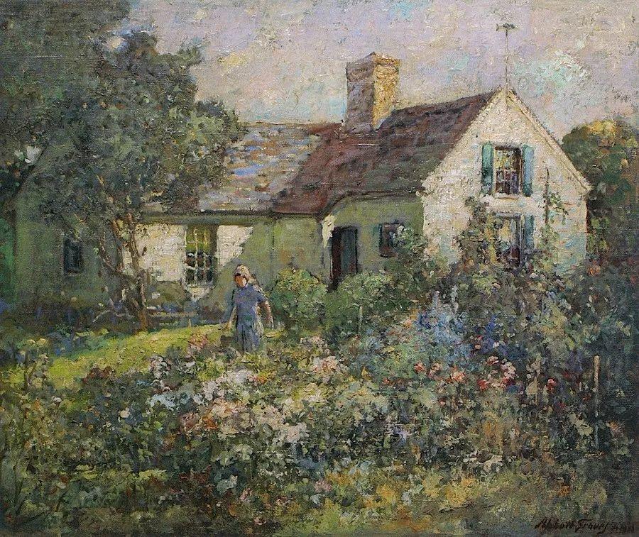 19世纪花园风景,看看那整片盛开的鲜花!插图57