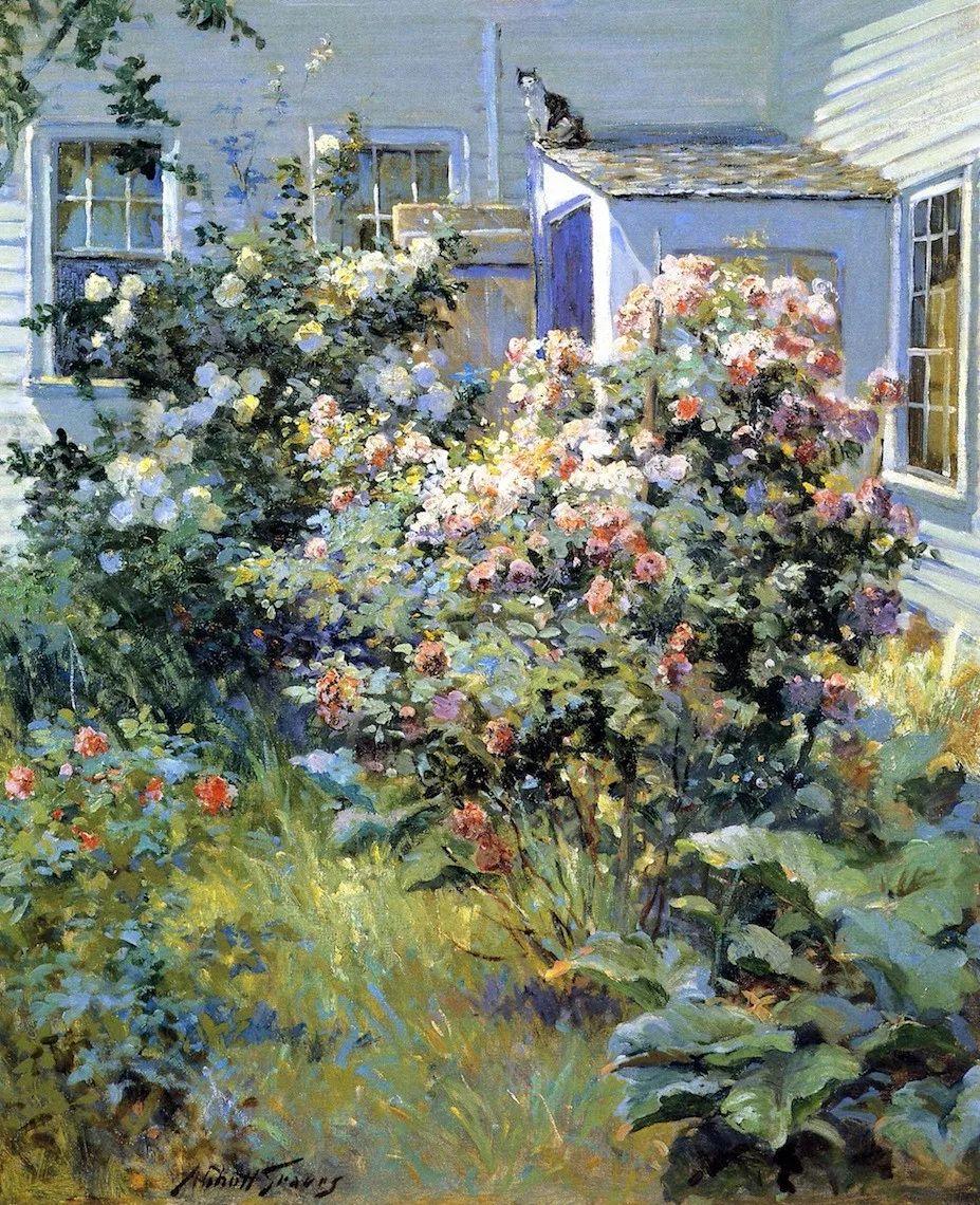 19世纪花园风景,看看那整片盛开的鲜花!插图59