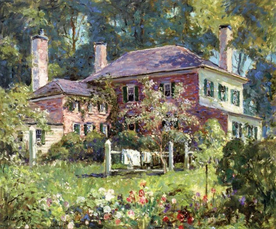 19世纪花园风景,看看那整片盛开的鲜花!插图63