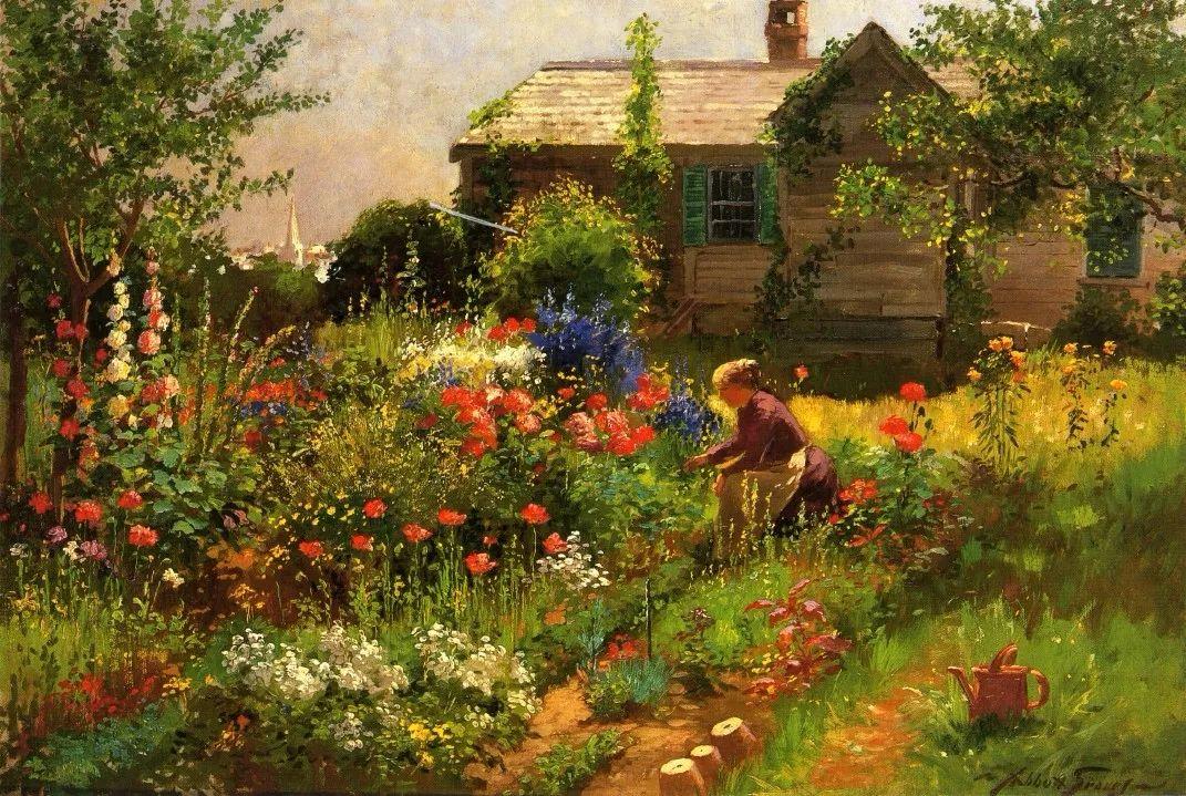 19世纪花园风景,看看那整片盛开的鲜花!插图65