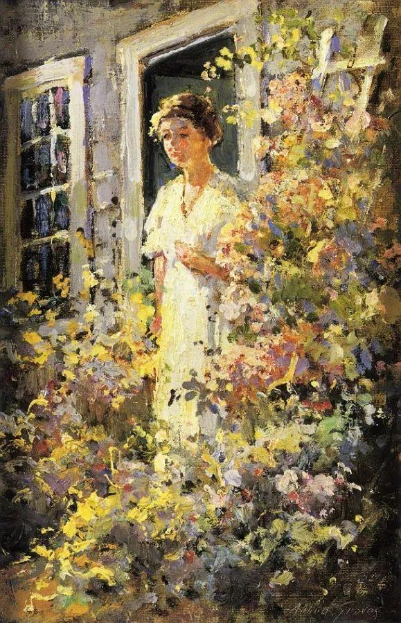 19世纪花园风景,看看那整片盛开的鲜花!插图67