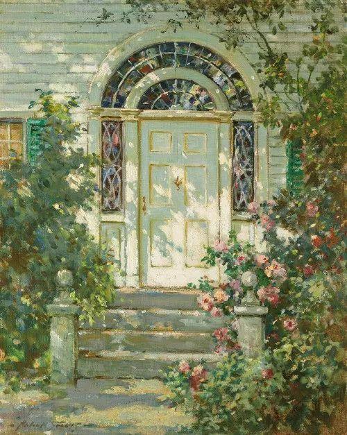 19世纪花园风景,看看那整片盛开的鲜花!插图69