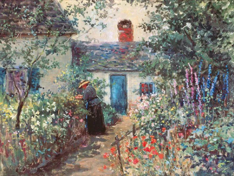 19世纪花园风景,看看那整片盛开的鲜花!插图71