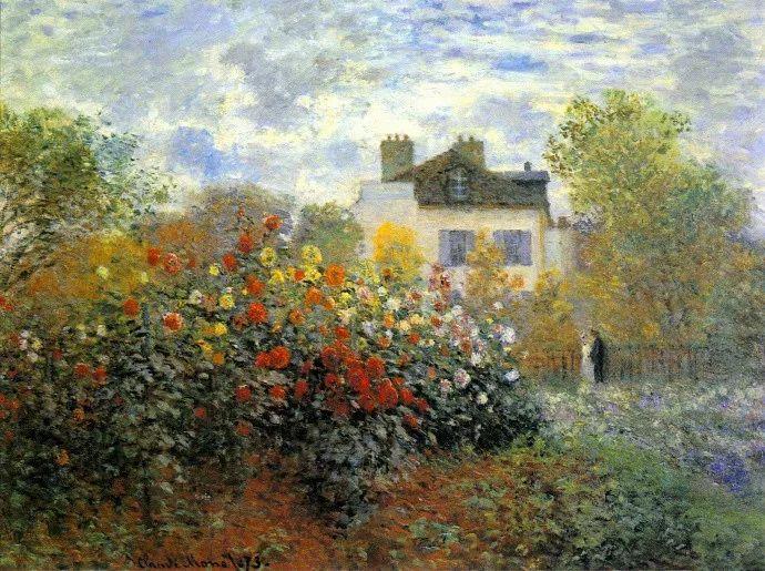 19世纪花园风景,看看那整片盛开的鲜花!插图73