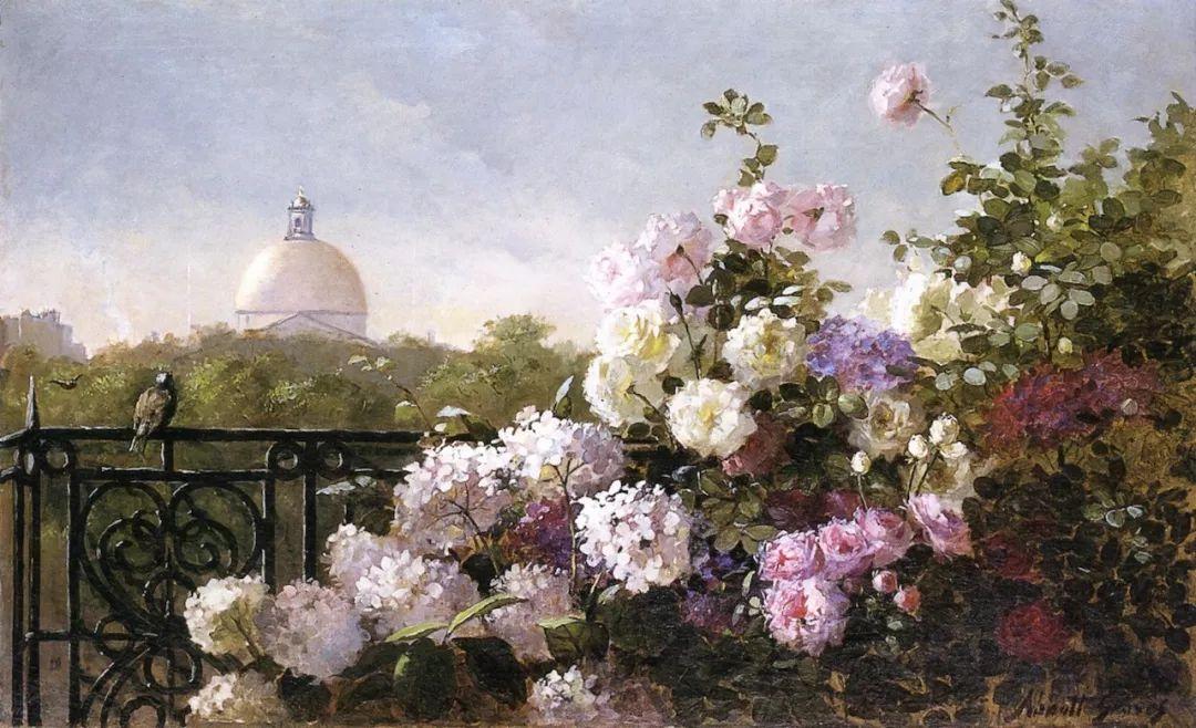 19世纪花园风景,看看那整片盛开的鲜花!插图75