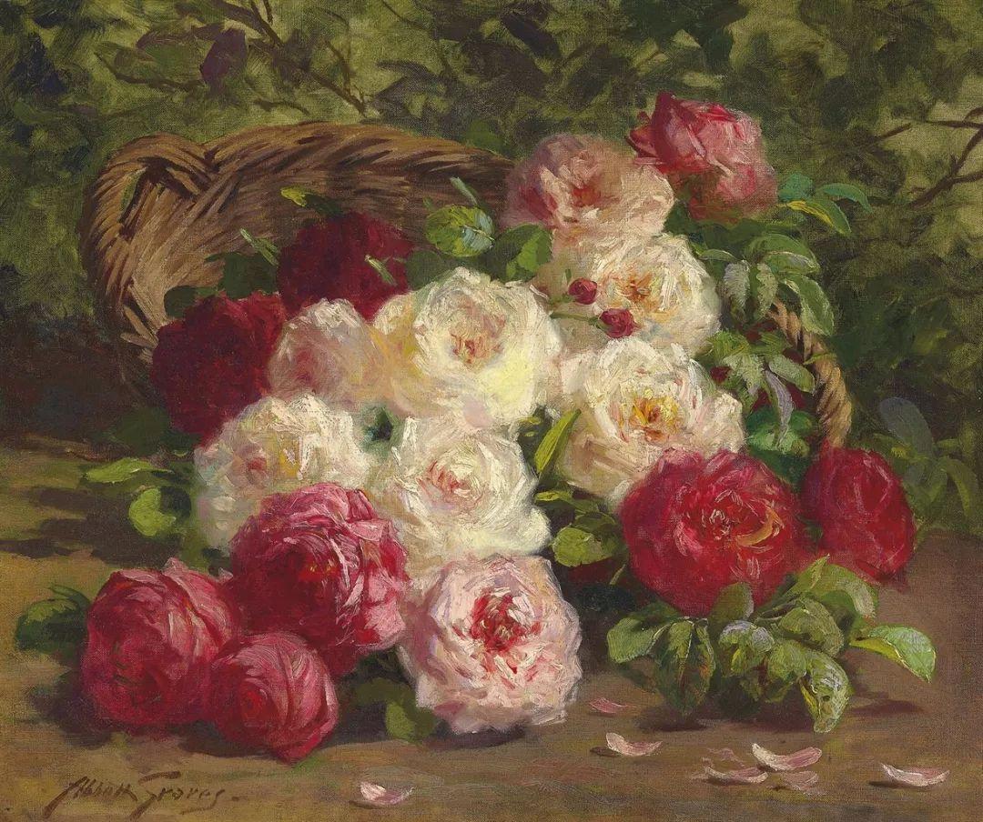 19世纪花园风景,看看那整片盛开的鲜花!插图77