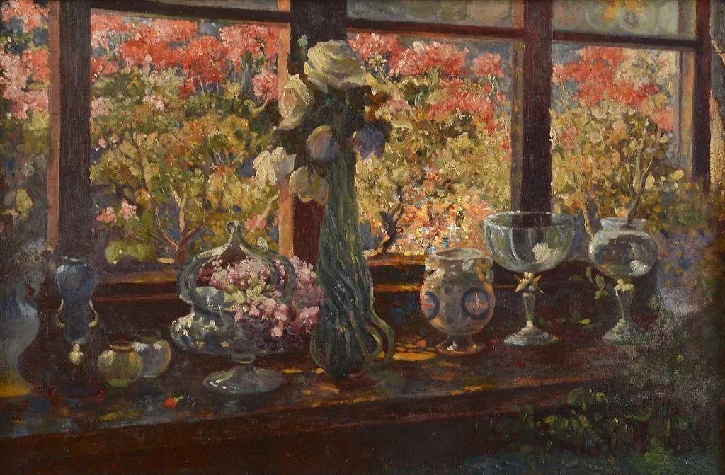 19世纪花园风景,看看那整片盛开的鲜花!插图79