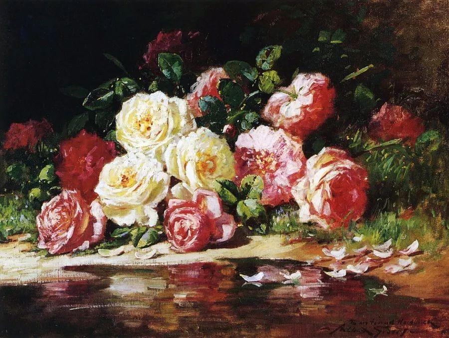 19世纪花园风景,看看那整片盛开的鲜花!插图83