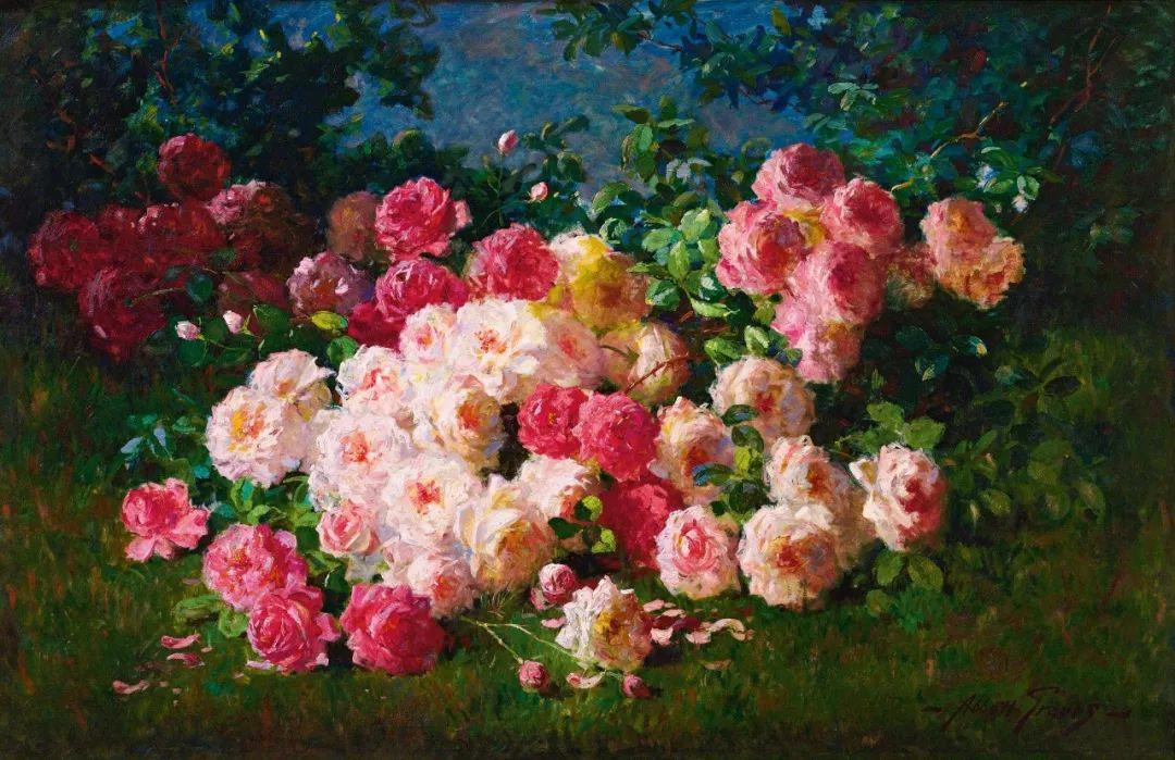 19世纪花园风景,看看那整片盛开的鲜花!插图87