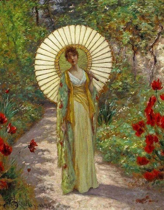 19世纪花园风景,看看那整片盛开的鲜花!插图91