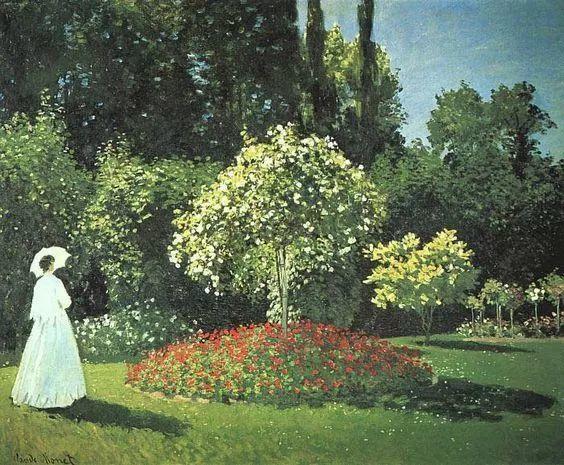 19世纪花园风景,看看那整片盛开的鲜花!插图93