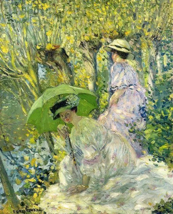 19世纪花园风景,看看那整片盛开的鲜花!插图97