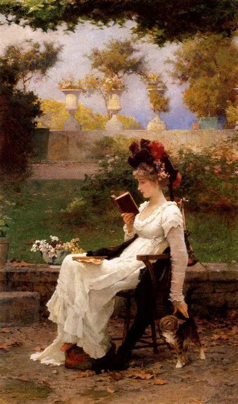 19世纪花园风景,看看那整片盛开的鲜花!插图107