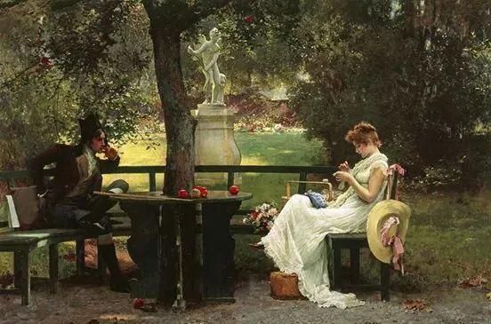 19世纪花园风景,看看那整片盛开的鲜花!插图111