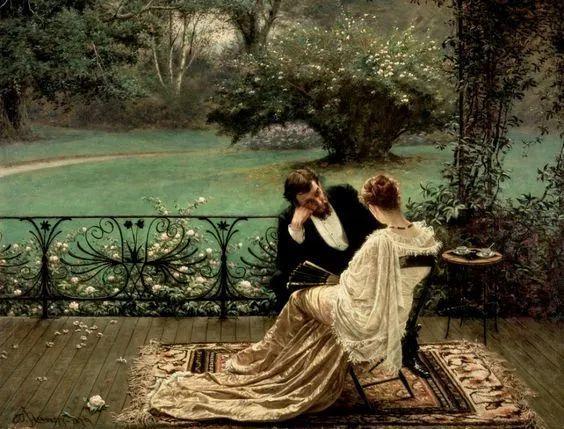 19世纪花园风景,看看那整片盛开的鲜花!插图119