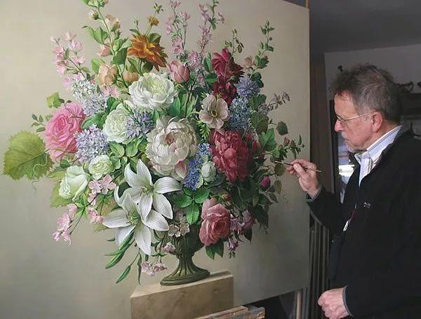 唯美花卉油画,比利时Pieter Wagemans作品插图1