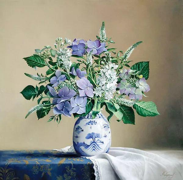 唯美花卉油画,比利时Pieter Wagemans作品插图3