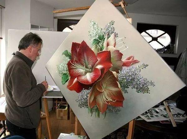 唯美花卉油画,比利时Pieter Wagemans作品插图7