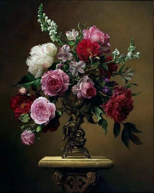 唯美花卉油画,比利时Pieter Wagemans作品插图9