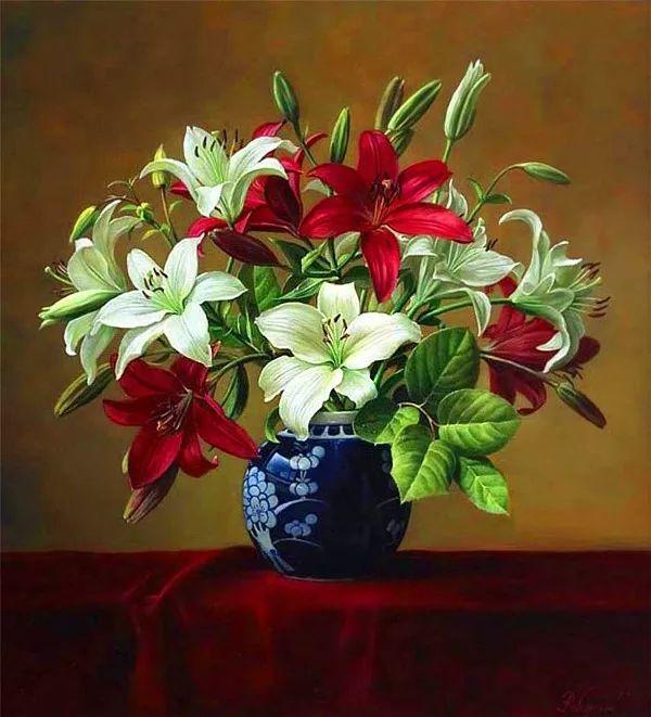 唯美花卉油画,比利时Pieter Wagemans作品插图13