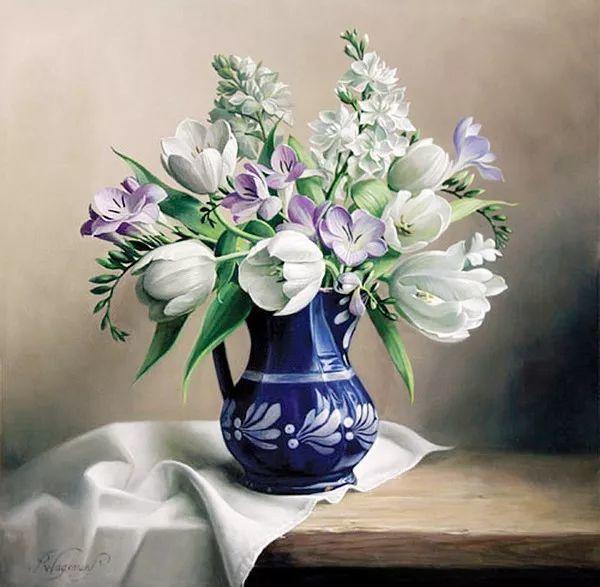 唯美花卉油画,比利时Pieter Wagemans作品插图15