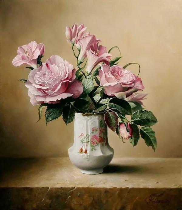 唯美花卉油画,比利时Pieter Wagemans作品插图17