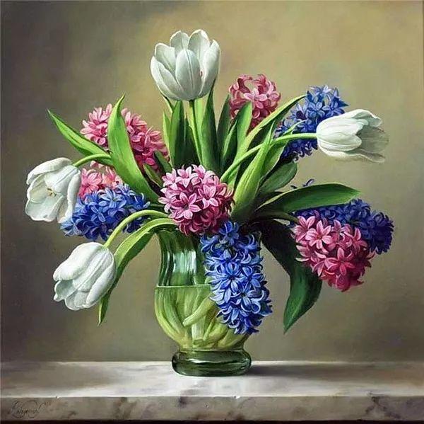 唯美花卉油画,比利时Pieter Wagemans作品插图21