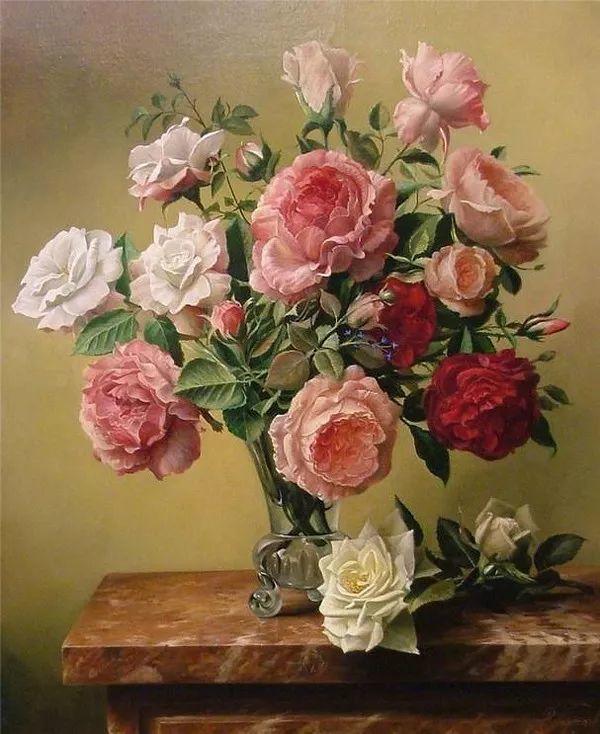 唯美花卉油画,比利时Pieter Wagemans作品插图27