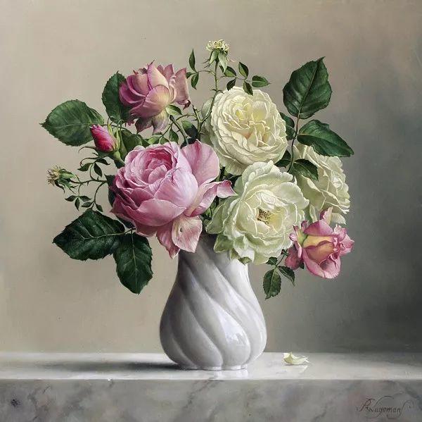 唯美花卉油画,比利时Pieter Wagemans作品插图35