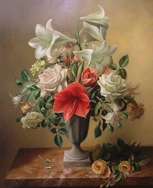 唯美花卉油画,比利时Pieter Wagemans作品插图37