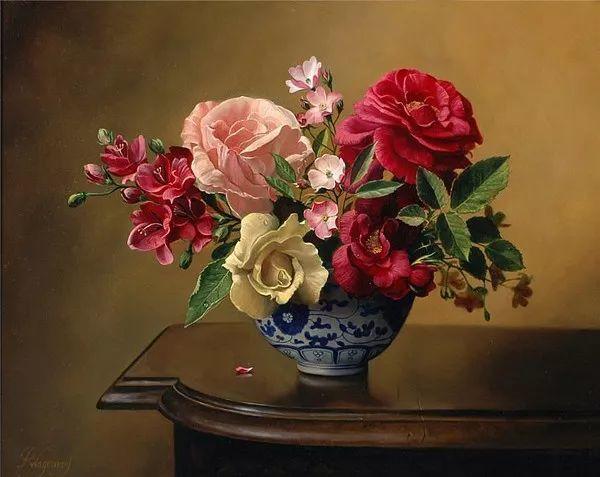 唯美花卉油画,比利时Pieter Wagemans作品插图39