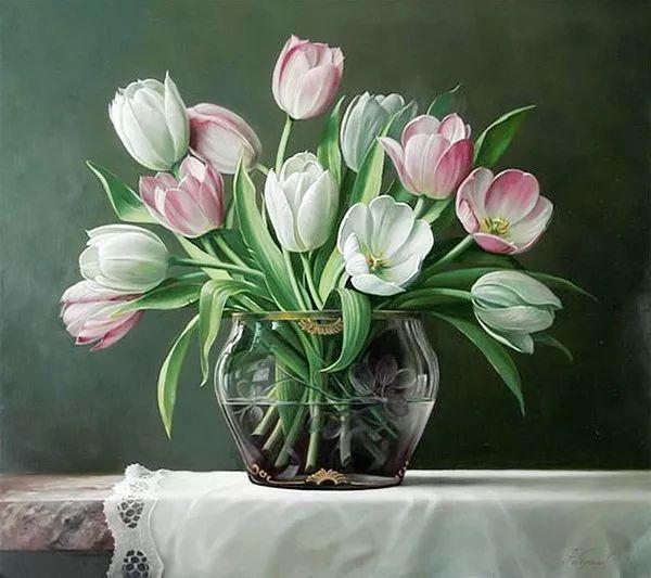 唯美花卉油画,比利时Pieter Wagemans作品插图41