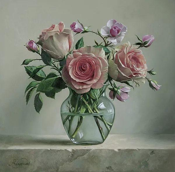 唯美花卉油画,比利时Pieter Wagemans作品插图43