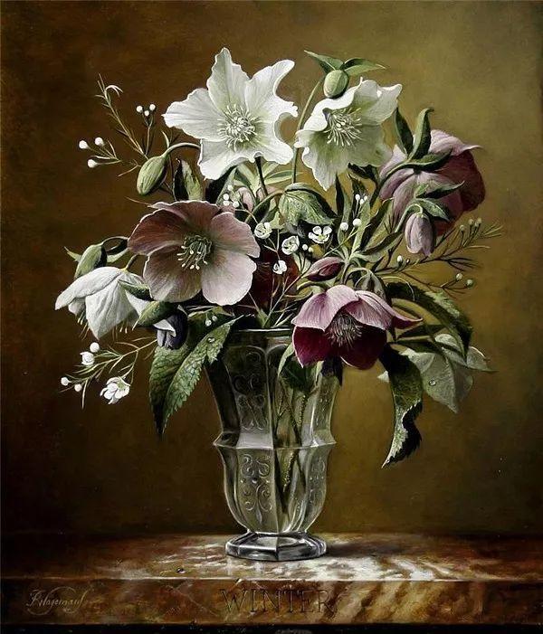 唯美花卉油画,比利时Pieter Wagemans作品插图47